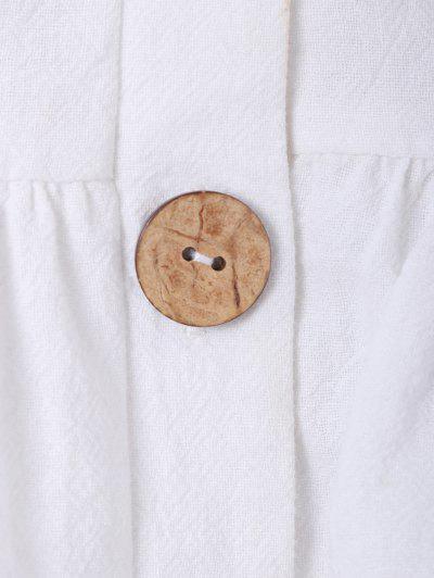 ZAFUL Ruffles Button Up Cami Top, White