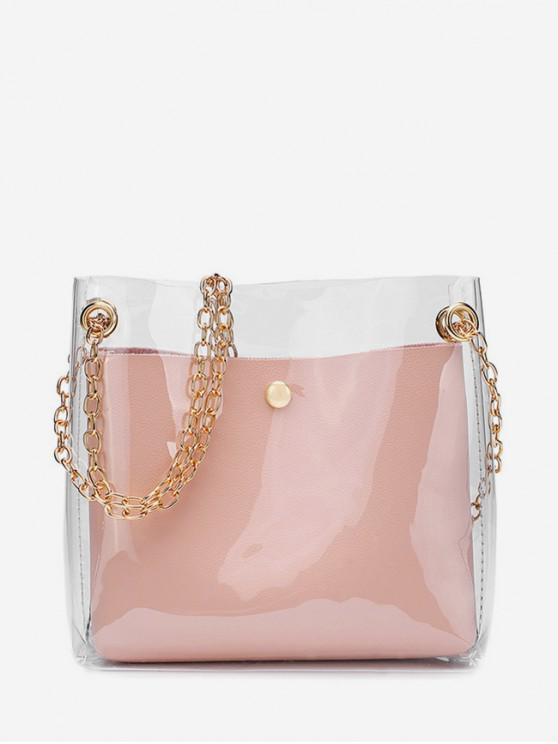 women Transparent Simple Style Shoulder Bag - FLAMINGO PINK