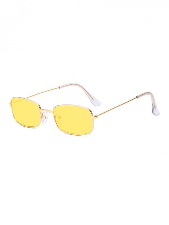 إطار مستطيل خمر النظارات الشمسية إطار معدني صغير - قضبان ذهبية