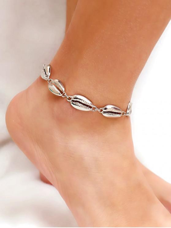 shops Shell Single Layer Anklet - SILVER