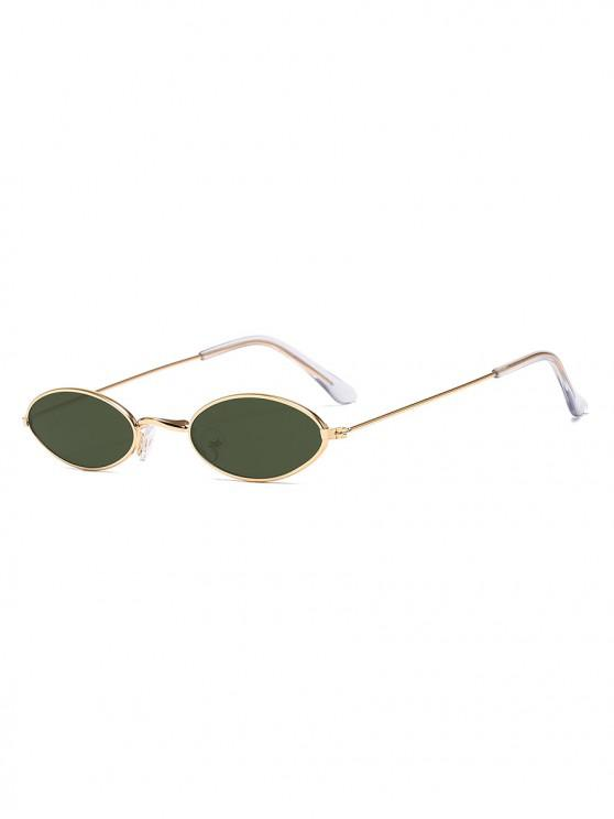 trendy Small Retro Oval Polarized Sunglasses - DARK GREEN