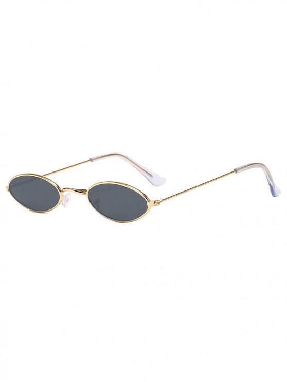 shops Small Retro Oval Polarized Sunglasses - BLACK