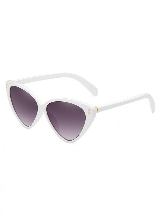 womens Stylish Animal Print Leopard Pattern PC Sunglasses - WHITE