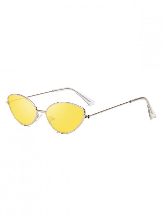 trendy Stylish Metal Frame Sunglasses - YELLOW