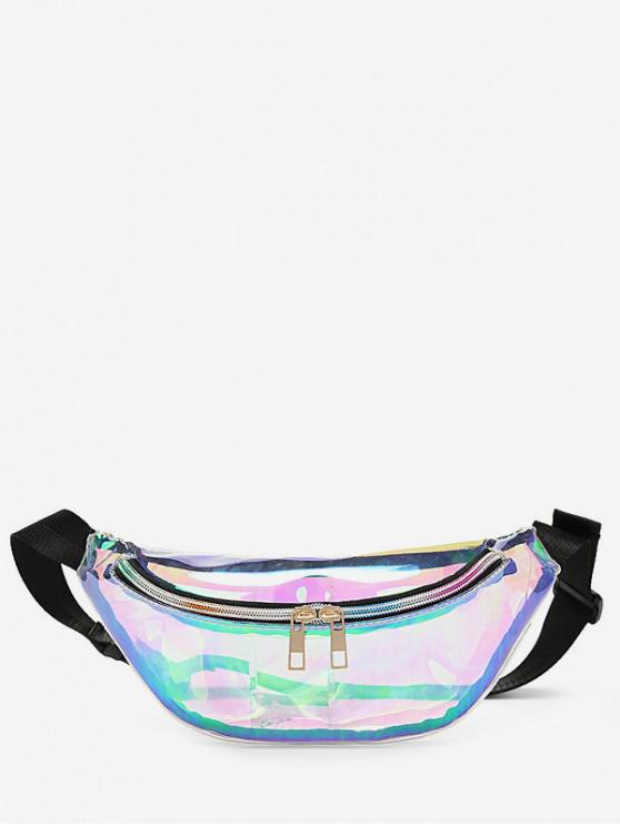 buy Zipper Iridescent Fanny Pack - TRANSPARENT