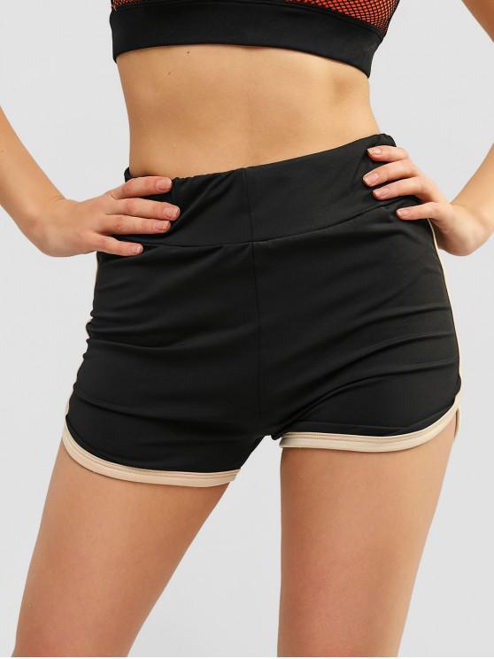 Shocked bolsillos lisos cortos - Negro XL
