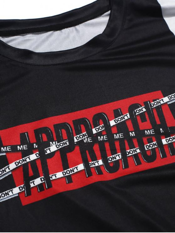 shirt À Empiècement Avec Graphique T M LettresNoir TKJF31cl