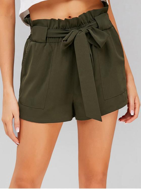 shops ZAFUL High Waisted Shorts - ARMY GREEN L