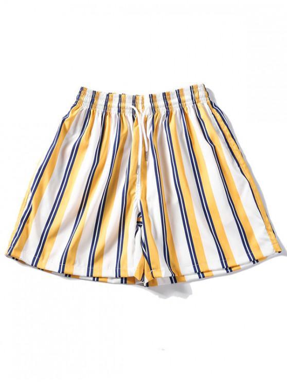 Shorts de diseño a rayas - Vara de Oro XL