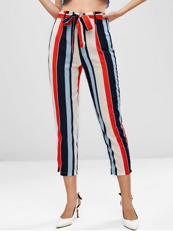 womens Colorful Striped Pants - MULTI-A L