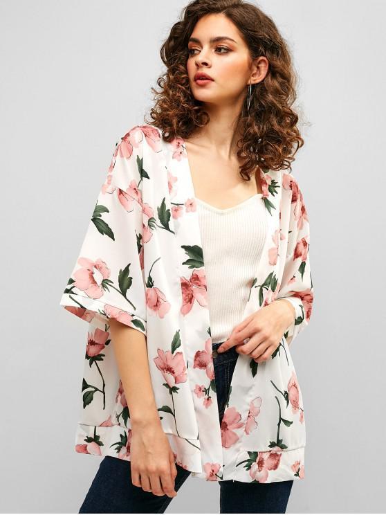 Top in kimono floreale - Bianca S