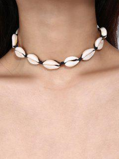 Cowrie Shell Choker Necklace - Black