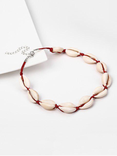 Handgemachte  Muschel- Halsband-Halskette - Rot  Mobile