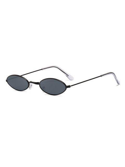 Ретро Маленькие Овальные Солнцезащитные Очки - Черный угорь  Mobile