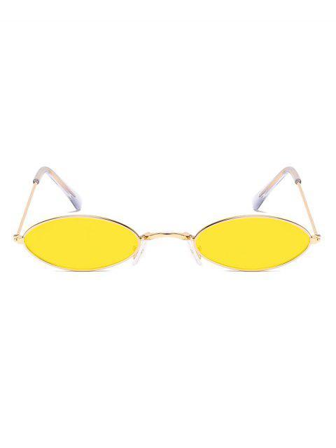 Ретро Маленькие Овальные Солнцезащитные Очки - Золотарник  Mobile