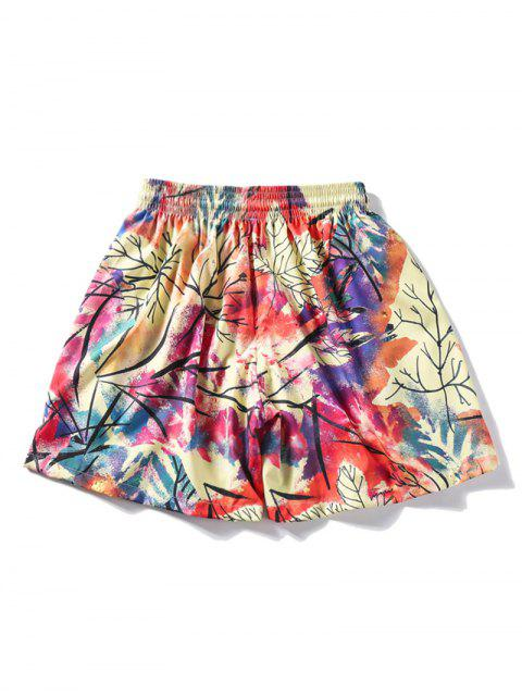 women's Colorful Painting Print Drawstring Shorts - MULTI M Mobile