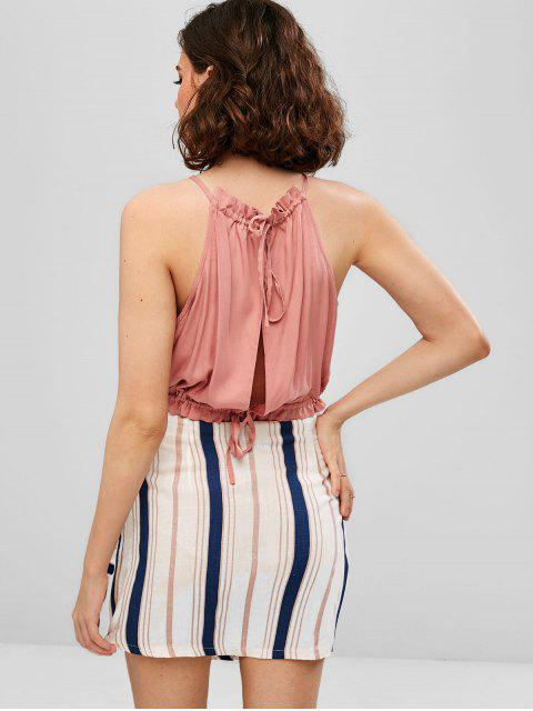 new ZAFUL Contrast Stripes Top And Skirt Set - MULTI-A M Mobile
