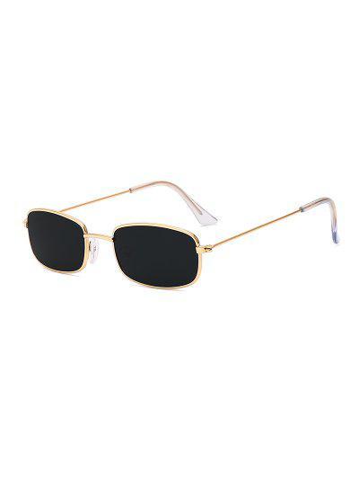 8a37683a222 Rectangle Frame Vintage Small Metal Frame Sunglasses - Black ...