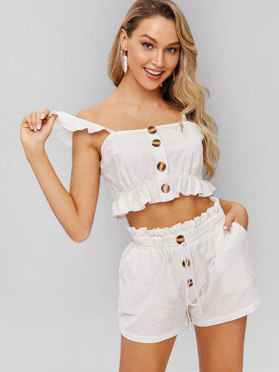 ce1cc0493dcd86 Ruffle Two Piece Set - White S ...