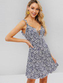 7cf18a28267 24% OFF   NEW  2019 ZAFUL Backless Floral Low Cut Frilled Dress In ...