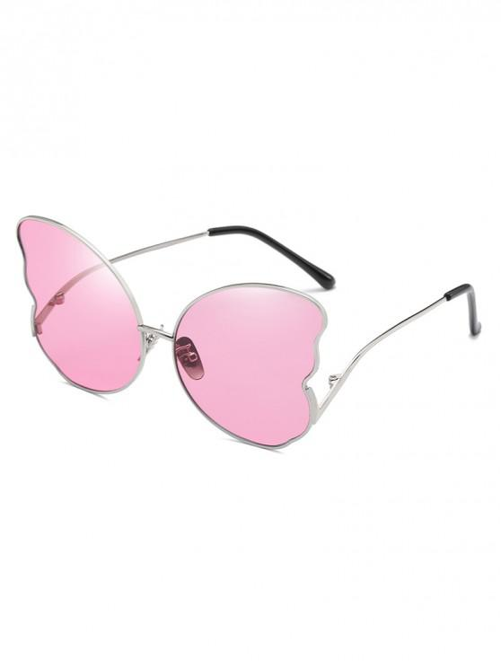 womens Metal Butterfly Shape Frame Stylish Sunglasses - PIG PINK