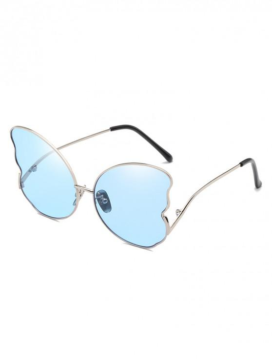 ladies Metal Butterfly Shape Frame Stylish Sunglasses - DENIM BLUE