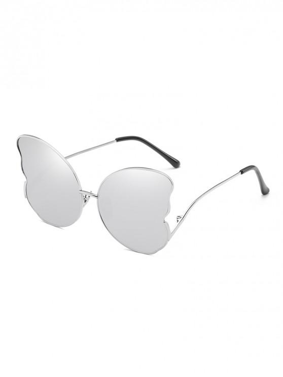 shops Metal Butterfly Shape Frame Stylish Sunglasses - SILVER