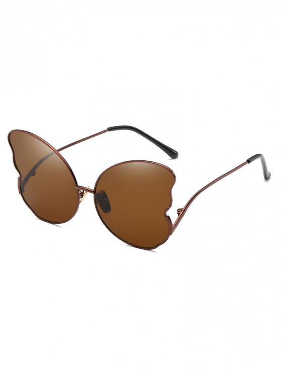 latest Metal Butterfly Shape Frame Stylish Sunglasses - COFFEE