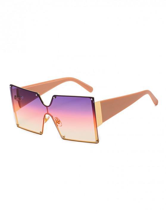 ladies Oversized Square Rimless Sunglasses - PINK