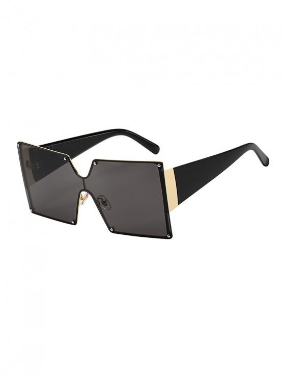 best Oversized Square Rimless Sunglasses - BLACK
