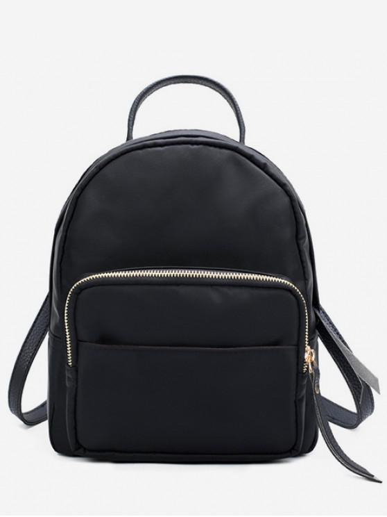lady Fashion Mini Nylon Backpack - BLACK