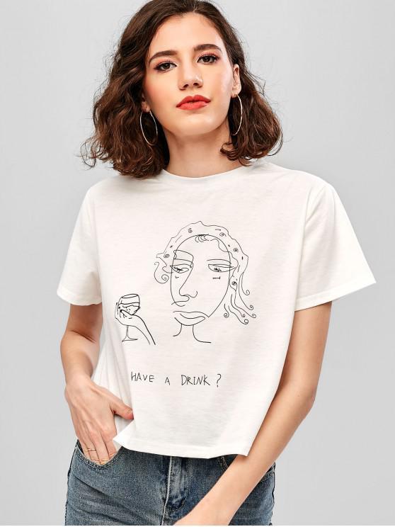 ZAFUL выпить футболку с рисунком - Белый M