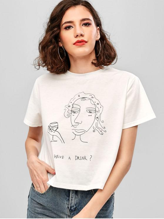 outfit ZAFUL Have A Drink Graphic Tee - WHITE XL