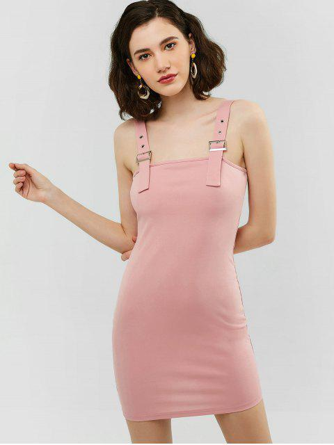 2cae9ae49b6 29% OFF  2019 Robe Moulante à Bretelle Bouclée Dans Rose