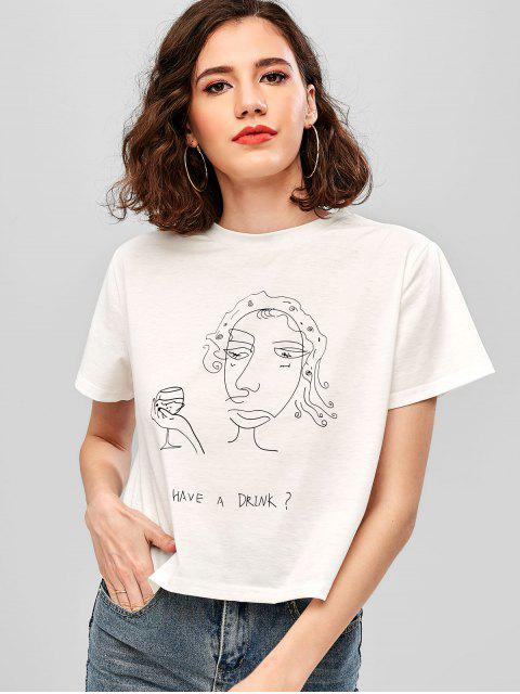 shops ZAFUL Have A Drink Graphic Tee - WHITE S Mobile
