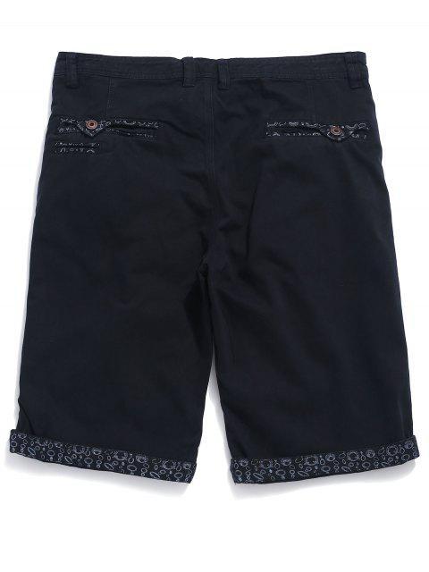 Shorts Jean Jean con estampado geométrico - Azul de Pizarra Oscuro 34 Mobile
