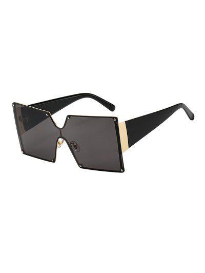 e2ae0ea4c64 Oversized Square Rimless Sunglasses - Black ...