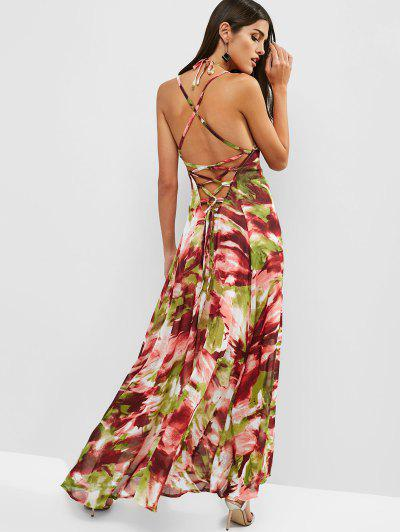 1bd6657ca6d1 Open Back Printed Criss Cross Maxi Dress - Multi Xl ...