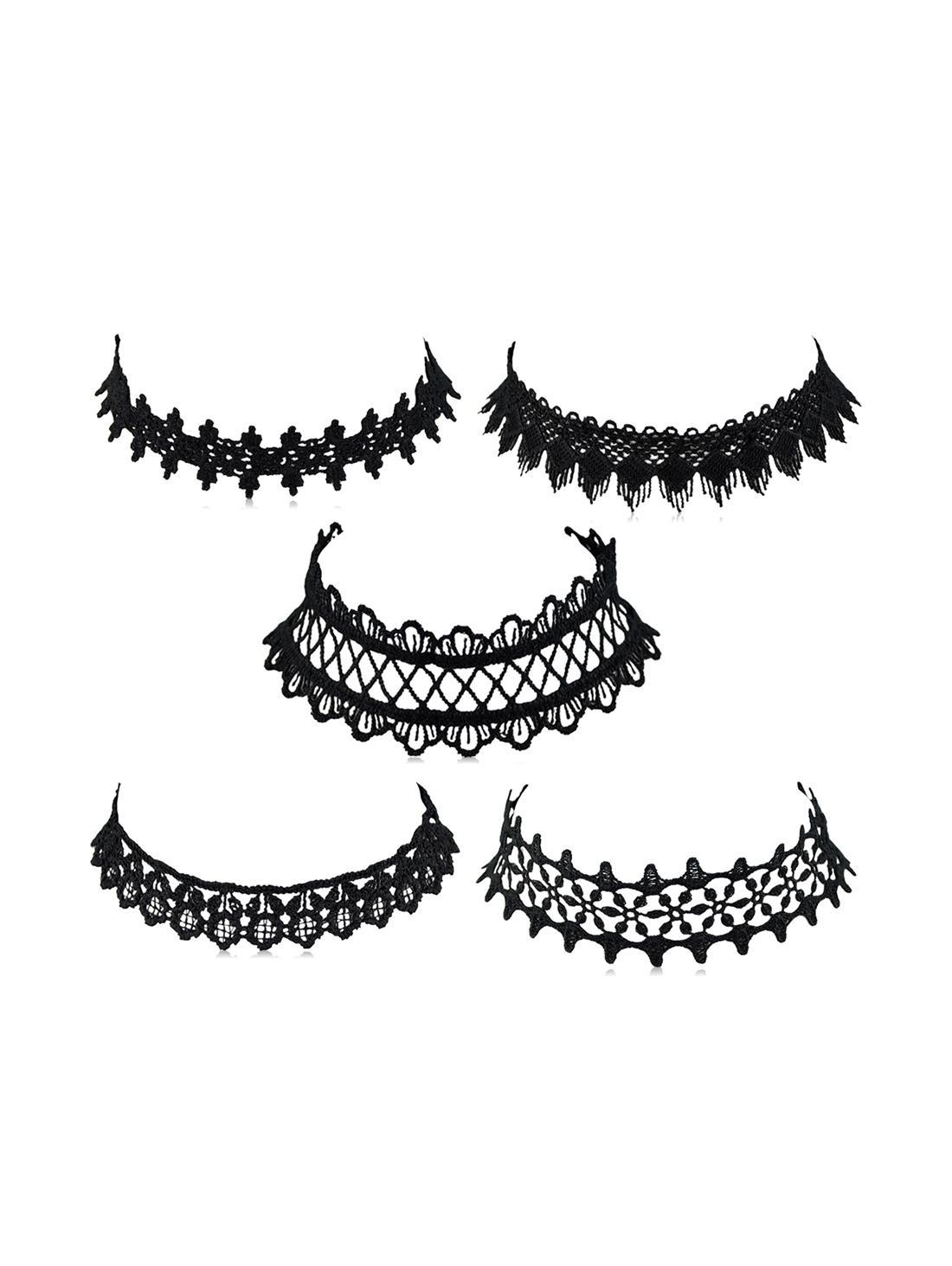 5Pcs Lace Choker Necklace Set