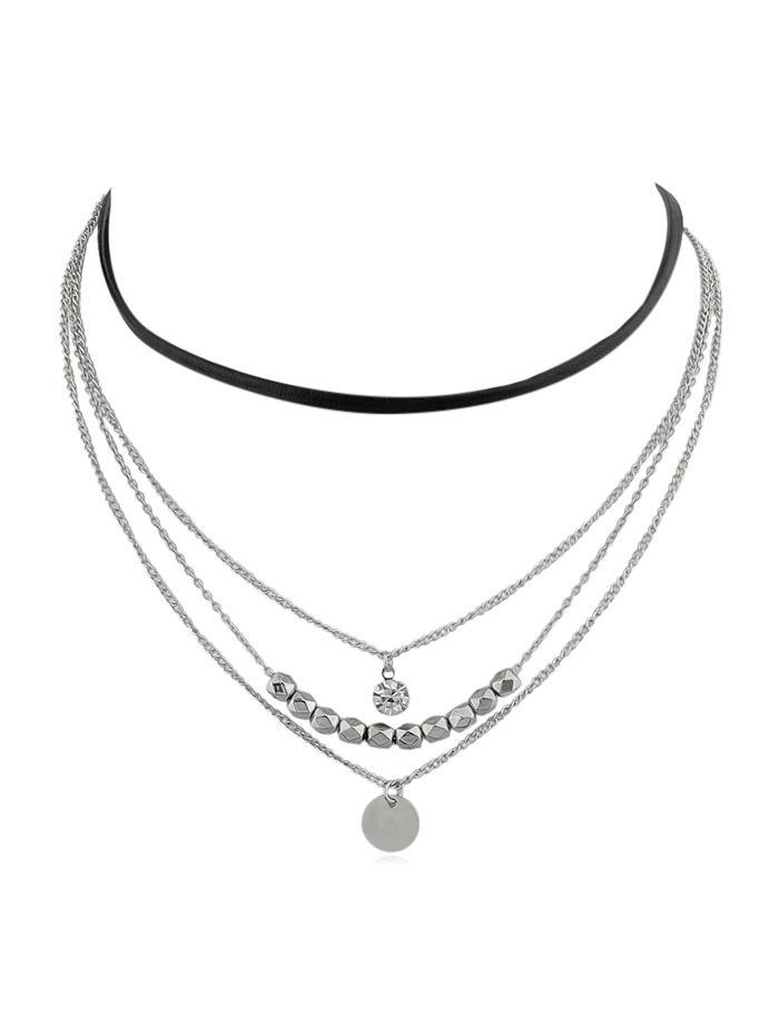 4Pcs Beaded Pendant Necklace Set