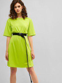 Brandneu 28aee ef2b3 Neon- Gürtel-T-Shirt-Kleid
