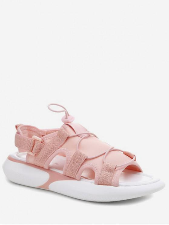 separation shoes coupon code authorized site 35% OFF] 2020 Elastic Cloth Casual Platform Sandals In LIGHT PINK ...