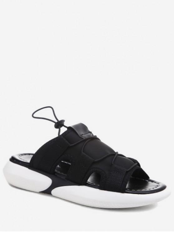 Sandalias de plataforma casual de tela elástica - Negro EU 37