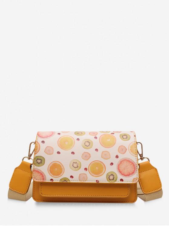 sale Fruit Pattern Crossbody Bag - ORANGE