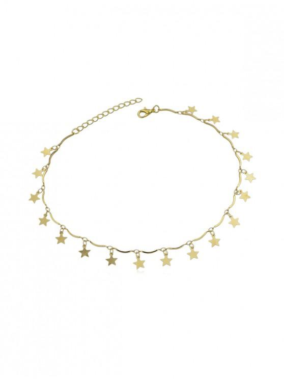 Collier Charmant Simple Etoile - Or