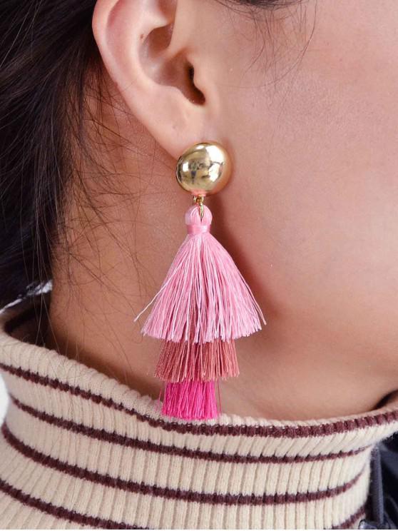 shops Ombre Tassel Stud Drop Earrings - LIGHT PINK