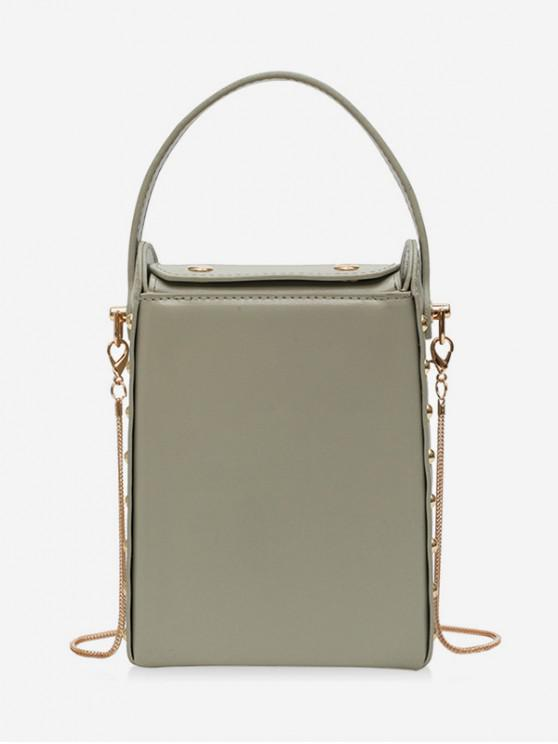 sale Rectangle Simple Chain Shoulder Bag - ARMY GREEN