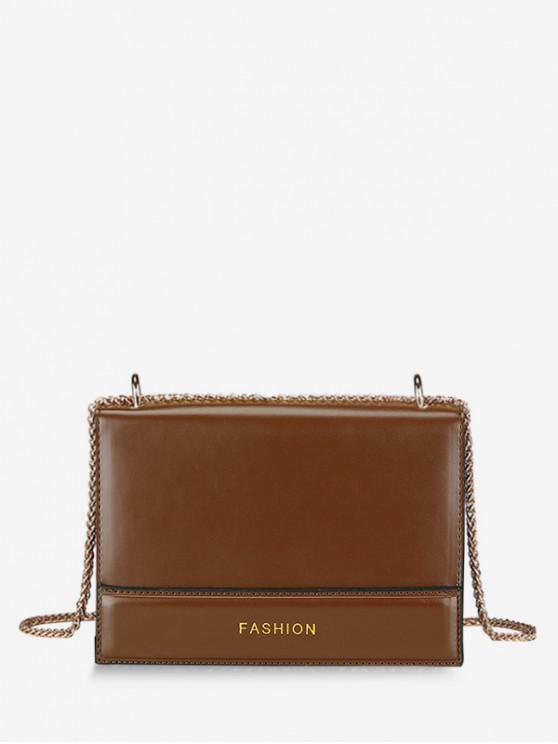 new Fashionable Color Block Crossbody Bag - BROWN