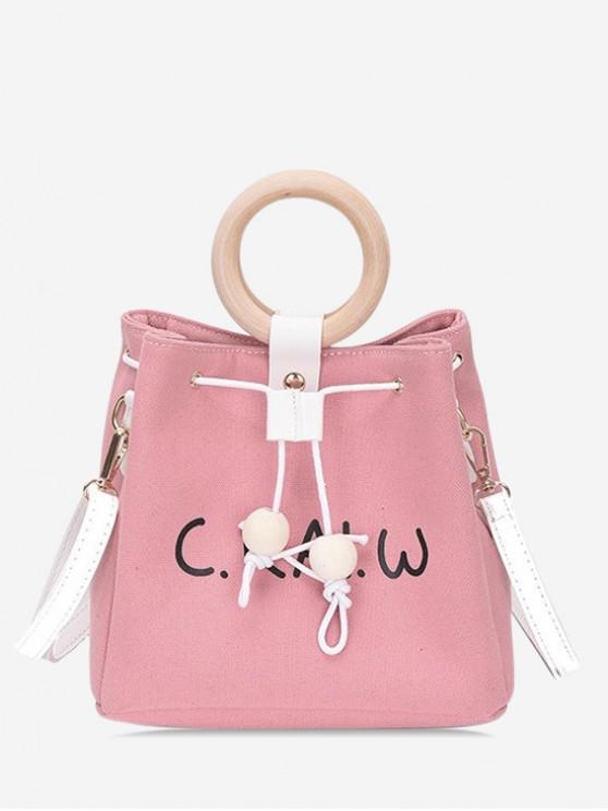 latest Summer Character Pattern Bucket Bag - PINK
