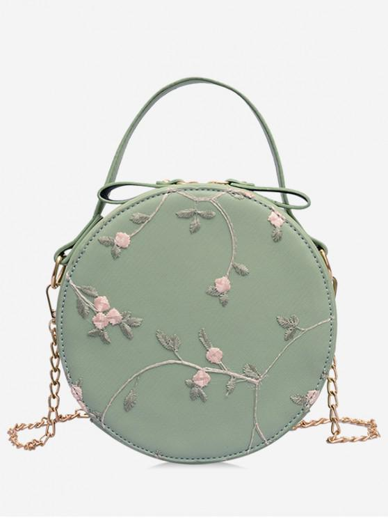 buy PU Leather Lace Chain Crossbody Bag - GREEN